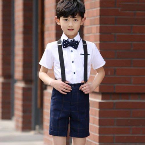 花童禮服 男童禮服 兒童演出服 吊帶褲  表演合唱服  生日禮物—莎芭