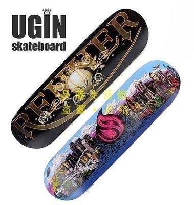 [王哥廠家直销]送包送工具!美國UGIN 專業四輪雙翹滑板 高級組裝凹板 成人滑板 送工具滑板包 蛇板 滑板LeGou_5