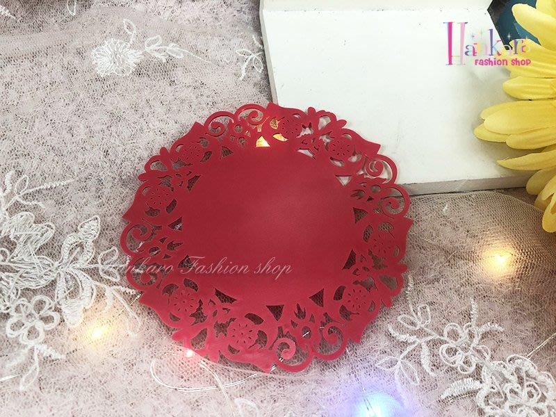 ☆[Hankaro]☆浪漫蕾絲花朵糖果色圓形矽膠防滑杯墊
