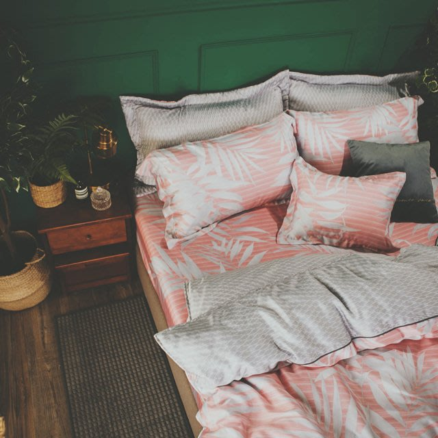 MIT 40支天絲-薄床包鋪棉被套組【夕暮森林】(雙人5尺)