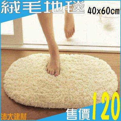 《沛大建材》 絨毛地毯 加厚 超柔絨毛 腳踏墊 絲毛 吸水 地墊 60x40公分【B16】