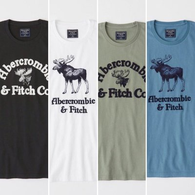 MELEK Clothes 代購正品現貨 【Abercrombie&Fitch】【A&F】 AF男款圓領麋鹿短袖短T