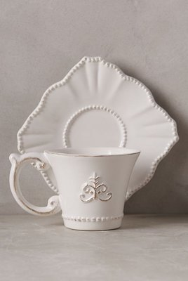 麻布花園zakka鄉村田園雜貨~法式作舊浮雕徽章咖啡杯組