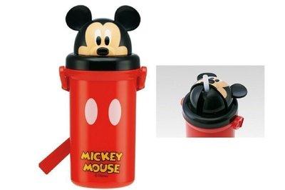 【東京家族】 日本 迪士尼 Mickey 米奇造型頭蓋吸管水壺 (腹背帶)500ml