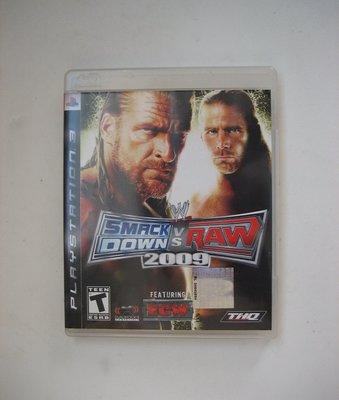 PS3  WWE 激爆職業摔角 2009 英文版 SmackDown vs. Raw
