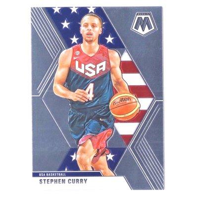 倒數10張!咖喱 Stephen Curry 元年Mosaic USA Base Card #260!Mosaic元年的USA美國夢幻隊金屬卡!2019-20