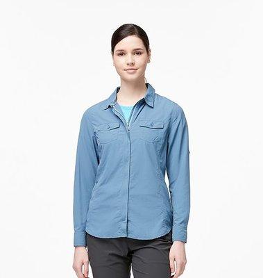 春夏輕薄素色長袖襯衫 荒野 wildland W1205 女拉鏈可調節抗UV襯衫2760元特價1380元 抗UV 透氣