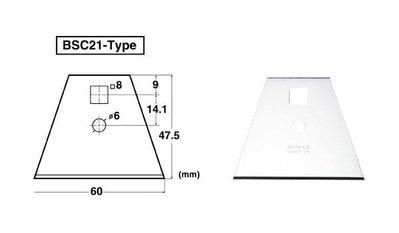 {阿治嬤} 日本 NT BSC-21P 刮刀用替換刀片 BSC21P