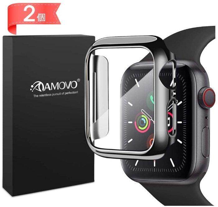 《FOS》日本 Apple Watch Series 6 SE 保護套 旭硝子玻璃製 保護殼 亮面透明 40/44mm