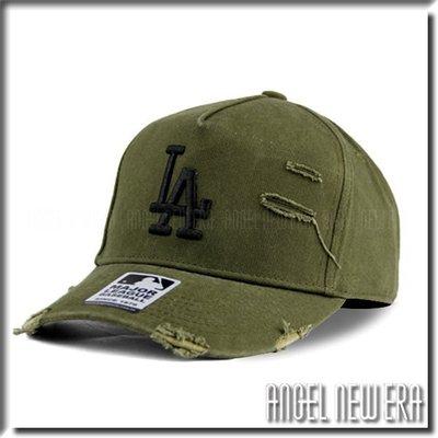 【ANGEL NEW ERA 】MLB Old Fashioned Cap LA  道奇 軍綠 水洗 破壞 卡車帽 墨綠