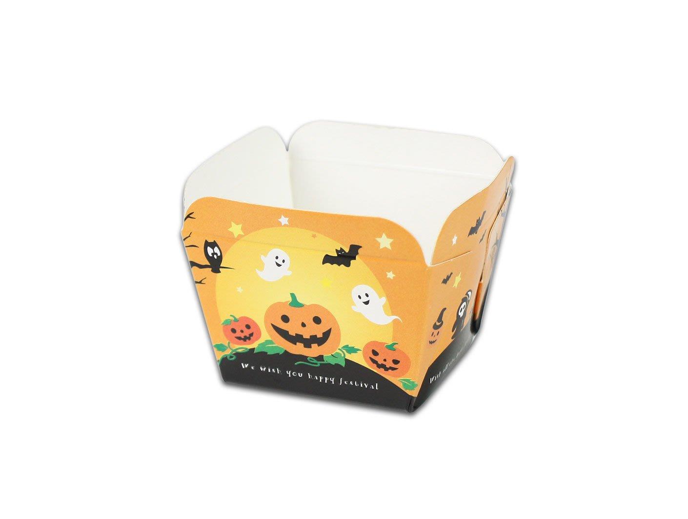 【嚴選SHOP】30入 萬聖節造型 戚風蛋糕盒 烤蛋糕杯 烘焙紙盒 紙烤模 烘烤盒 杯子蛋糕 馬芬【F049-39】