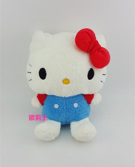 正版 三麗鷗 日本景品 SEGA kitty 坐姿絨毛娃娃 凱蒂貓玩偶 毛茸茸 無嘴貓 生日禮物 畢業禮物 歐莉王