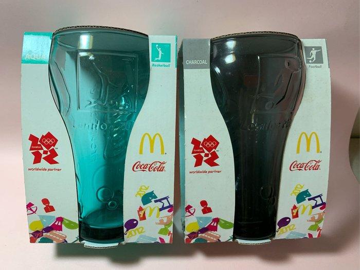 《陳舊現貨》可口可樂 曲線杯 特價出清 兩個一起賣 顏色:灰/綠 2012年生產