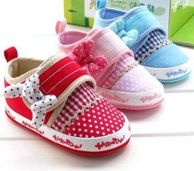 『※妳好,可愛※』【新品優惠320元】香港品牌~超可愛蝴蝶結~點點風可愛學步鞋(公主必備款)