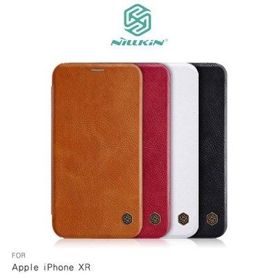 【中華東MIKO手機館】NILLKIN iPhone XR 秦系列皮套 可插卡 皮套 側掀式皮套 掀蓋保護殼(IQ5)
