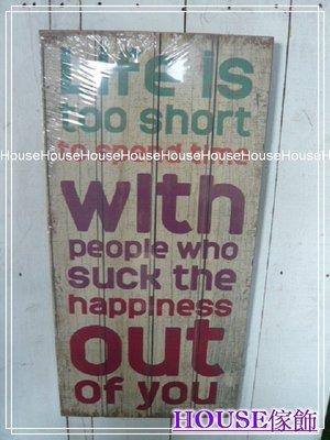 *︵House傢飾︵*復古風格英文字母木板畫~C款【☆限量款/新發售☆】