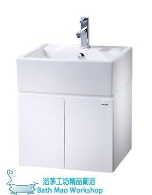 ◎浴茅工坊◎CAESAR凱撒浴櫃組寬50.5*深48*高57.5公分/方型陶瓷面盆浴櫃組LF5236A