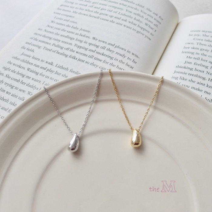 《正韓》小清新系列-百搭經典水滴鎖骨鍊項鍊-金色-925純銀項鍊
