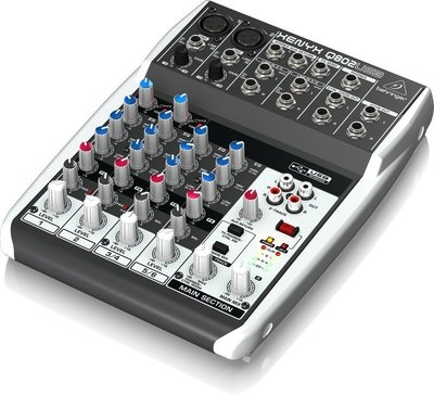 ♪♪學友樂器音響♪♪ Behringer XENYX Q802USB 8軌混音器 德國耳朵牌 錄音介面 Mixer