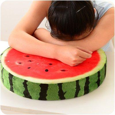 創意水果辦公室椅墊坐墊午休枕和室墊靠墊(可拆洗.多種水果造型)-雷