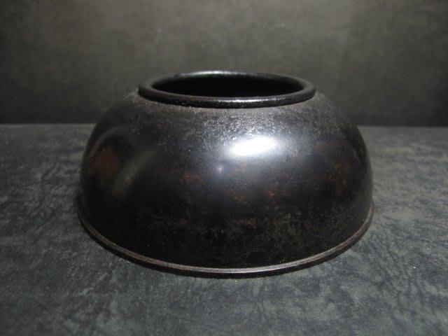老銅爐 ◎  洗式素圓 銅香爐【寶雲居 款】