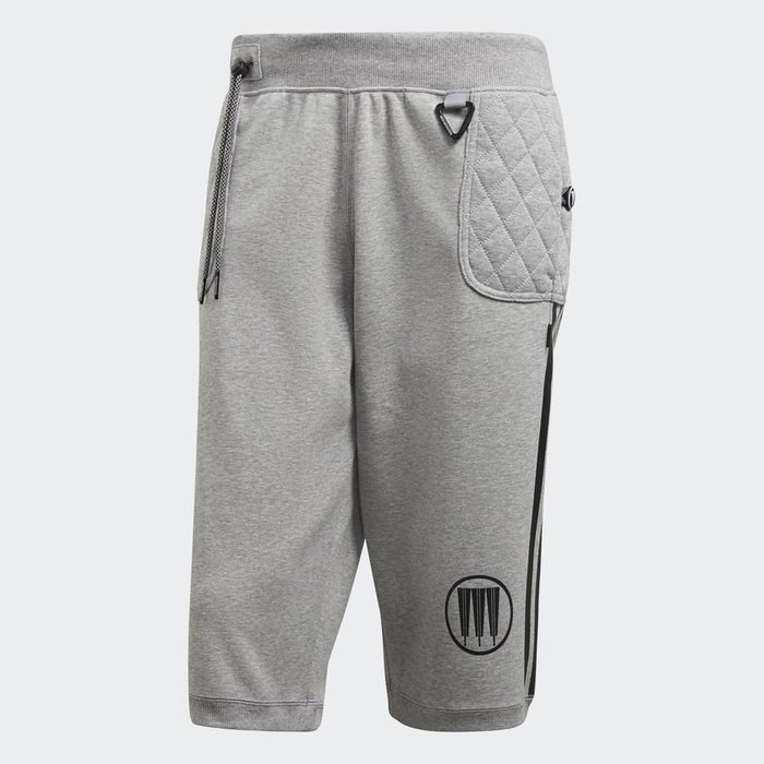 【紐約范特西】現貨 ADIDAS X NEIGHBORHOOD CD7735  灰色黑三線 NBHD聯名短褲