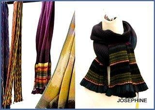 喬瑟芬【CATHERINE ANDRE'】特價$9200~2010'秋冬羊駝毛壓條紋拼色圍巾/披肩(2色)~全新真品!
