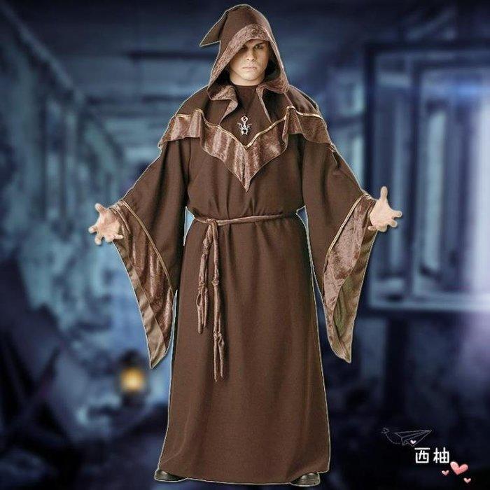 降價兩天-M-17教父巫師裝萬聖節服裝cosplay化裝舞會成人男