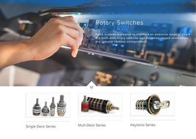 美國 Staco Systems 軍用/航空規格 旋鈕開關 Rotary Switches