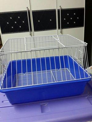 中型 藍盆烤漆寵物籠  (44*33*28公分)九九成新