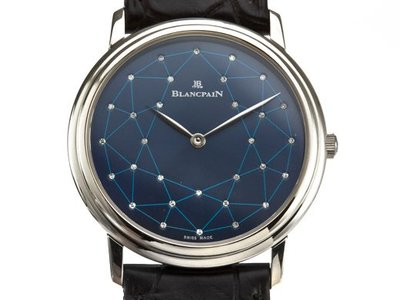 Blancpain 寶珀PT950純白金男用腕錶