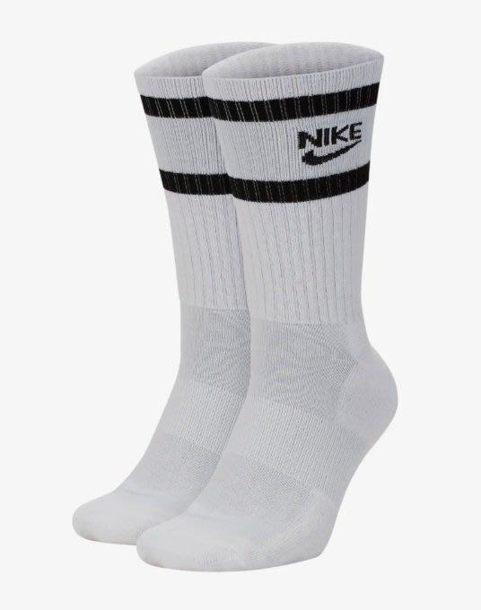 【 鋒仔球鞋 】NIKE HERITAGE CREW白色黑LOGO 2入 運動襪 小腿襪 潮流好搭 SK0205-100