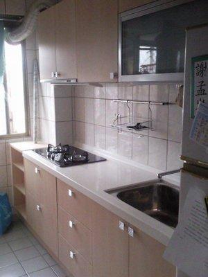歐雅系統家具 系統廚具 橡木洗白含豪山三機加LG人造石特價64000元