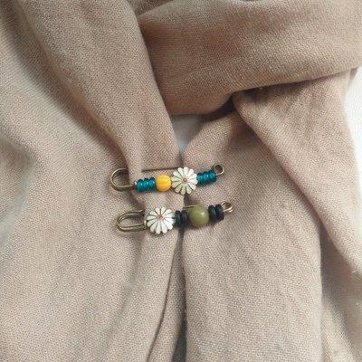 別針 胸針 胸花 正韓 百搭 復古胸針女 別針扣裝飾品 可愛毛衣開衫大扣針 披肩圍巾扣 女配飾