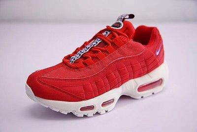 """Nike Air Max 95 TT復古氣墊百搭慢跑鞋系列 """"串標紅白藍"""" AJ1844-600尺碼: 36-46"""