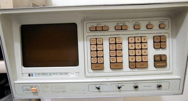 HP 3779D Primary Multiplex Analyser PCM 多工分析儀(無法開機)