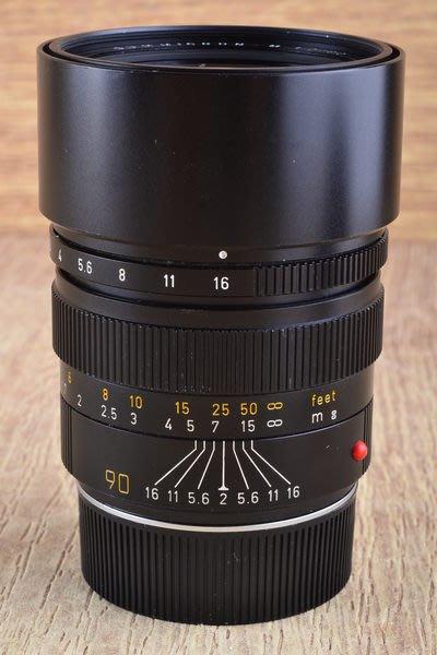【品光攝影】Leica 徕卡 Summicron-M 90mm F2 III E55 黑色 加製 大頭九 #30859J