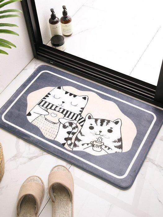 地墊 地毯衛生間地墊地毯門墊進門地毯墊門口臥室吸水腳墊子家用浴室防滑墊