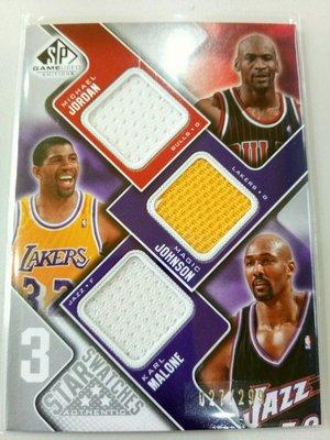 喬丹大帝 2009 SP Michael Jordan 限量299張 雙色球衣卡