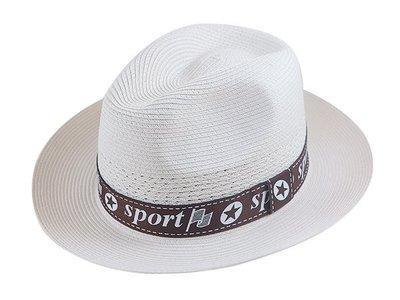 【二鹿帽飾】紳士PP男帽-(sport)奶白/ MIT (廟會陣頭帽/南北管紳士帽/表演團體紳士帽)