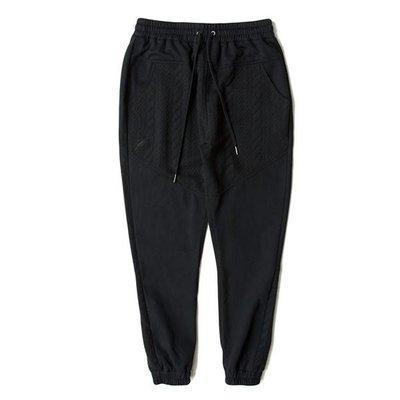 『CEO.SHOP』潮流休閒 PUBLISH D1 DILLON 壓紋拼接 棉褲 長褲 束口褲 黑色
