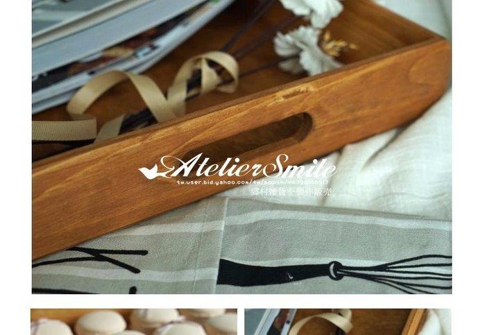 [ Atelier Smile ] 鄉村雜貨  森林系 復古婚禮蛋糕盤 長方形木製托盤 收納盤 # 大款 (現+預)