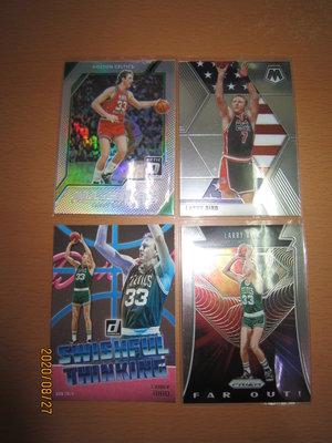 網拍讀賣~LARRY BIRD~OPTIC平行銀亮卡~SILVER~MOSAIC~USA奧運~DONRUSS~共4張~