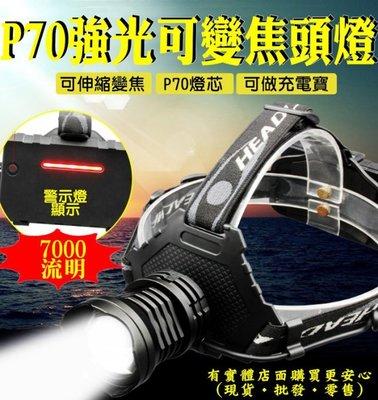 興雲網購3店【P70強光變焦頭燈+USB線單賣27131-137】7000流明強光魚眼 手電筒 工作燈 頭燈