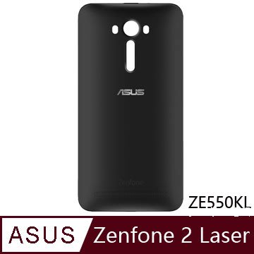 ASUS Zenfone 2 Laser 5.5吋手機 ZE550KL 原廠後背蓋 電池蓋 有電源鍵 全新黑色 裸裝