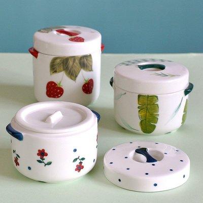 聚吉小屋 #熱賣#純手繪釉下彩陶瓷燉盅隔水燉高溫蒸蛋碗燉燕窩湯盅雙蓋鎖營養燉罐(價格不同 請諮詢後再下標)