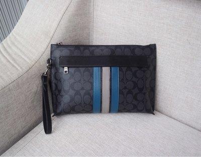 西西精品代購 COACH 38588 美國正品 新款男士手拿包 休閒手腕包 附購買憑證