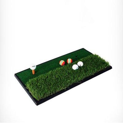 高爾夫打擊墊高爾夫雙色彎曲草打擊墊揮切桿墊室內練習MINI GOLF exerise mat