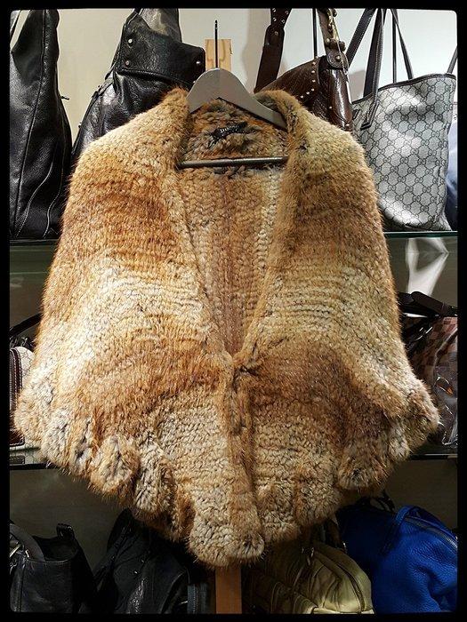 *旺角名店* 貂毛 皮草 披肩外套 圍巾短外套