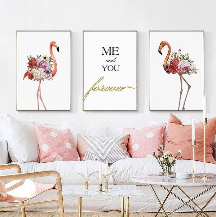 ART。DECO  粉紅簡約英文掛畫 美式藝術掛畫 室內設計沙發牆裝飾畫